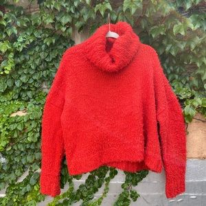 Red Cozy Urban Outfitters Sweater